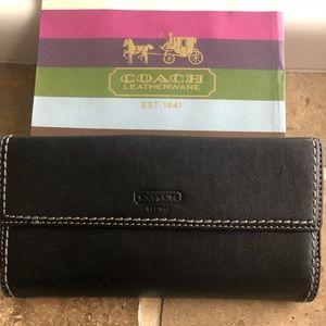 Authentic Coach black wallet